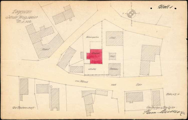 Planungen zum Neubau eines Schulhauses in der Gemeinde Hugsweier, Bild 1