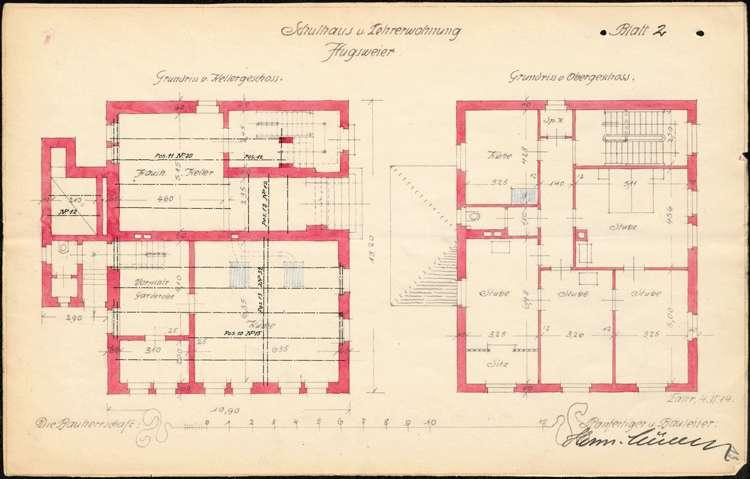 Planungen zum Neubau eines Schulhauses in der Gemeinde Hugsweier, Bild 2
