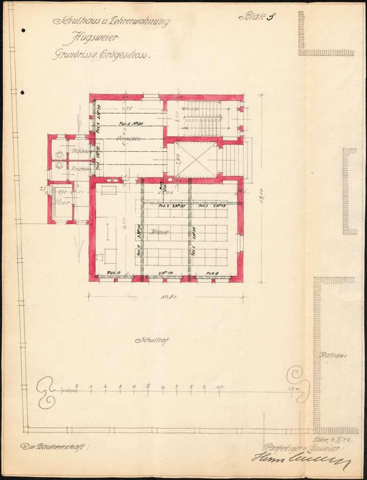 Planungen zum Neubau eines Schulhauses in der Gemeinde Hugsweier, Bild 3