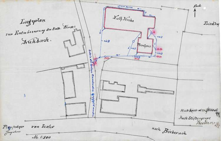 Entwässerung von Kirche und Pfarrhaus in Kuhbach, Bild 3
