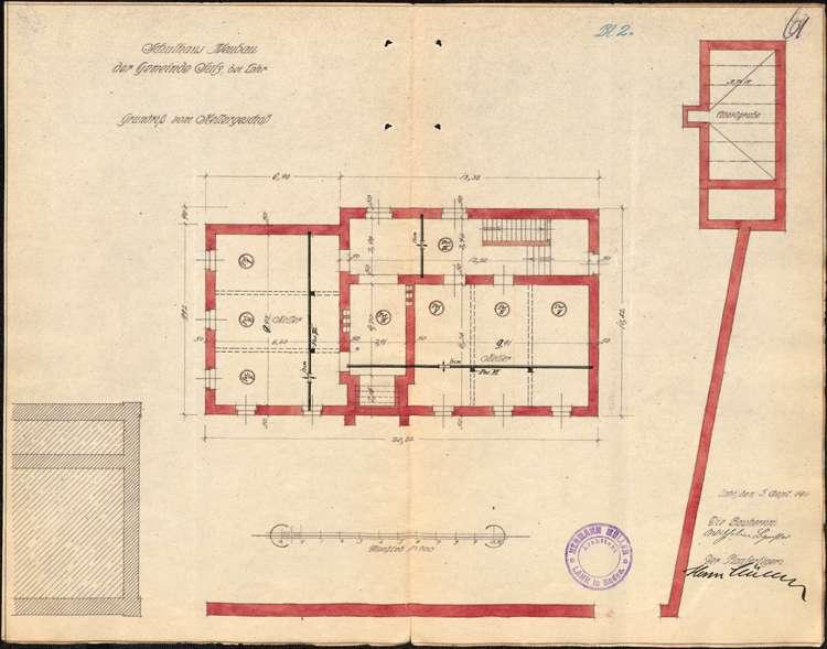 Bau eines neuen Schulhauses in der Gemeinde Sulz und dessen Unterhaltung, Bild 2