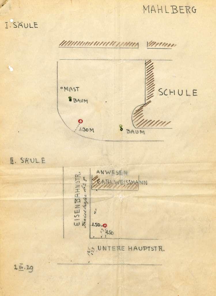 Aufstellen von Anschlagsäulen in Mahlberg und Beschwerde dagegen, Bild 1
