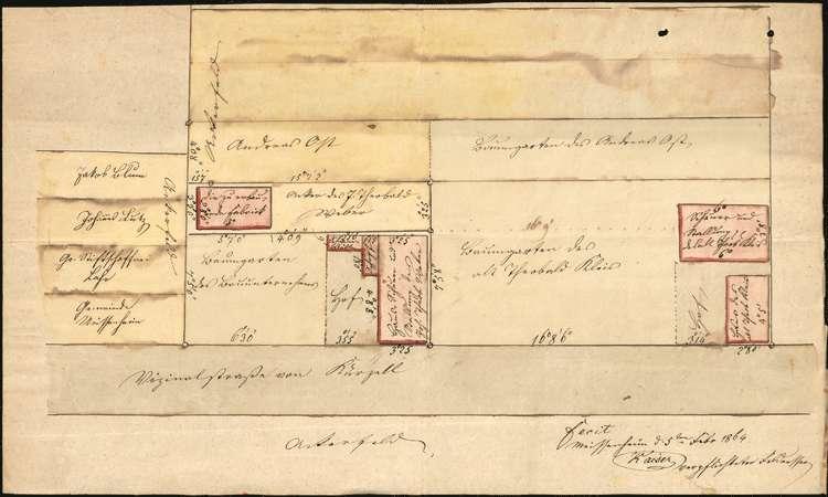 Gesuch des Johann Theobald Weber in Meißenheim um Genehmigung zur Errichtung einer Stärkefabrik, Bild 1