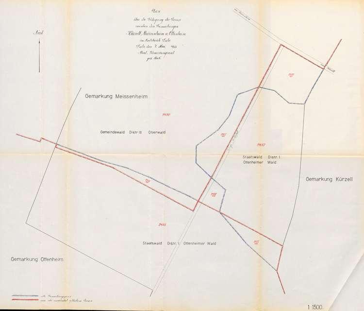 Änderung der Gemarkungsgrenzen (Waldtausch) zwischen den Gemeinden Meißenheim, Kürzell und Ottenheim, Bild 2