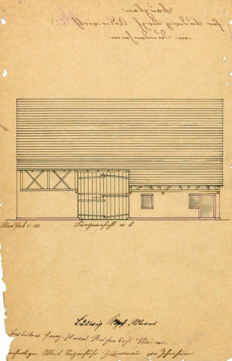 Gesuch des Adlerwirts Karl Ludwig Kopf in Dundenheim um Genehmigung zur Errichtung eines Schlachthauses und dessen Überwachung, auch nach der Übernahme durch August Keßler, Bild 2