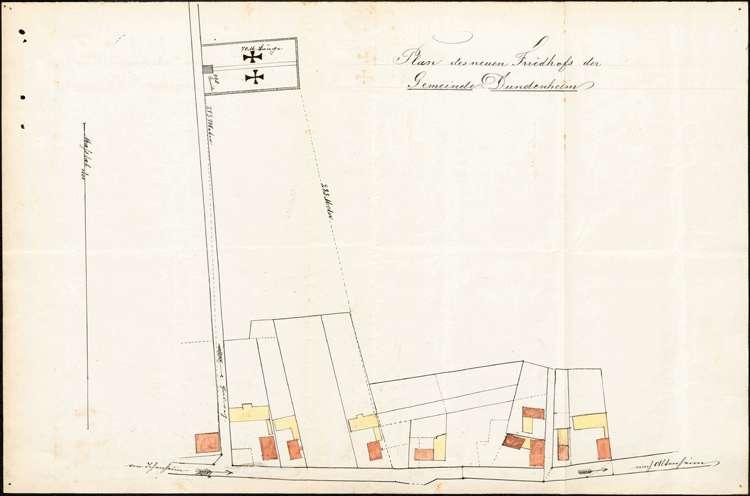 Verlegung und Neuanlegung des Friedhofs in Dundenheim sowie Erlassung einer Friedhofsordnung, Bild 1