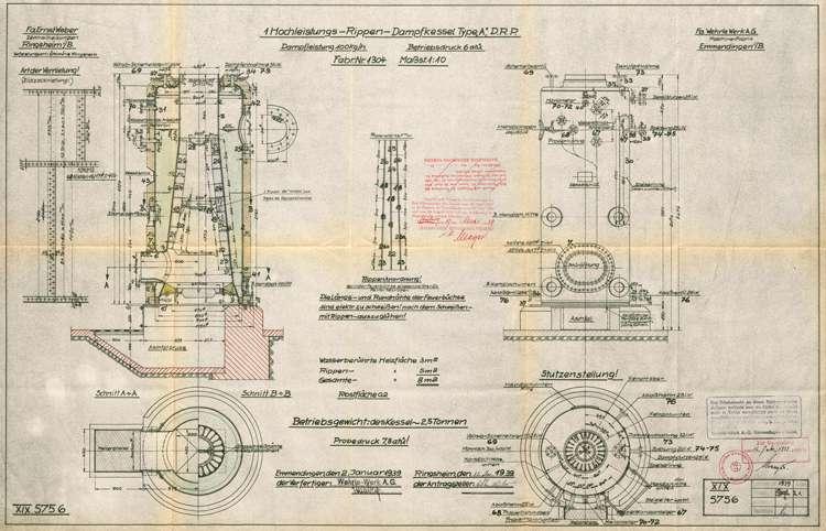 Aufstellung und Betrieb eines Dampfkessels bei der Ölmühle des Viktor Weber in Ringsheim, Bild 1