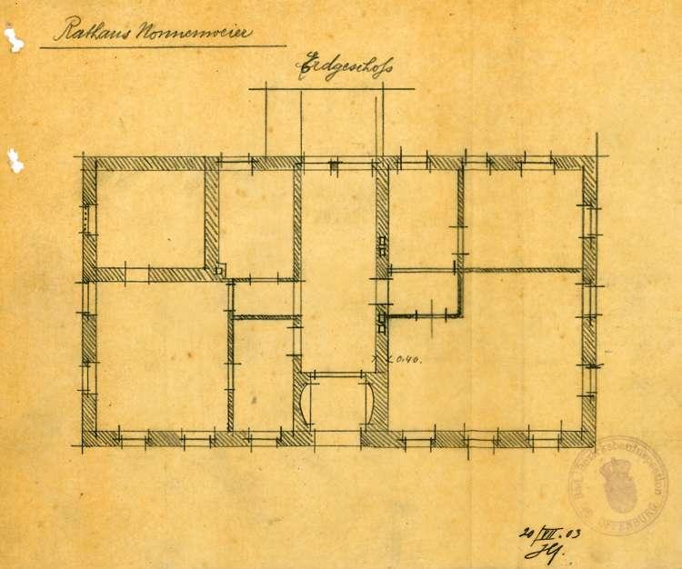 Umbau des Gasthauses Zum Anker in Nonnenweier zum Rathaus der Gemeinde, Bild 1