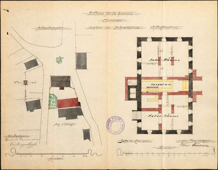 Umbau des Gasthauses Zum Anker in Nonnenweier zum Rathaus der Gemeinde, Bild 3