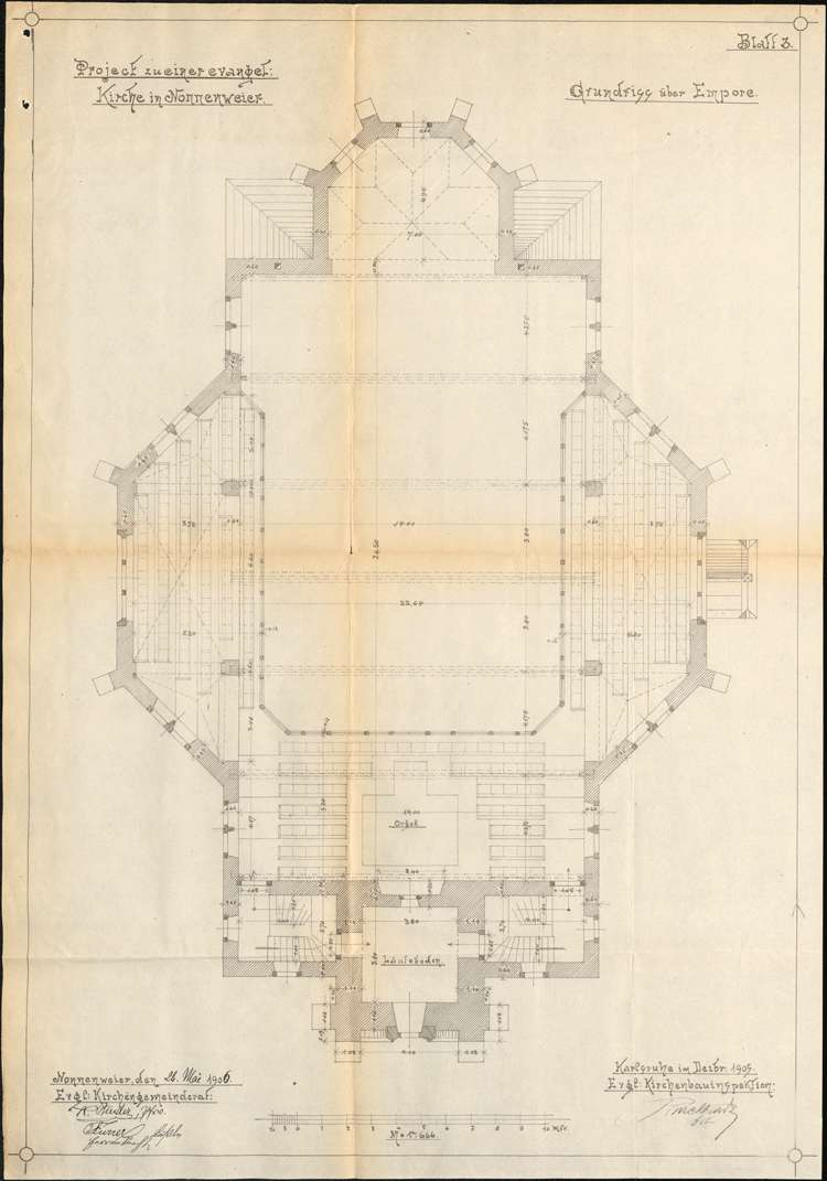 Bau einer neuen evangelischen Kirche in Nonnenweier, Bild 3