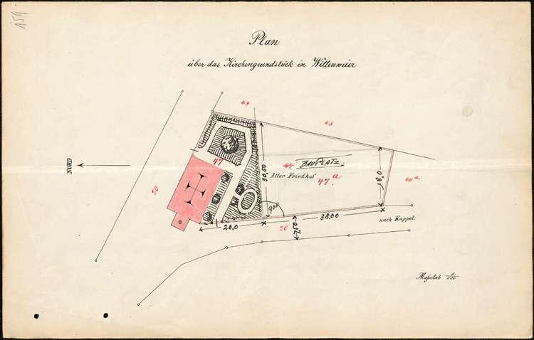 Baumaßnahmen an der Kirche in Wittenweier sowie Eintragung der Eigentumsverhältnisse an den dortigen Kirchengebäulichkeiten ins Grundbuch, Bild 1