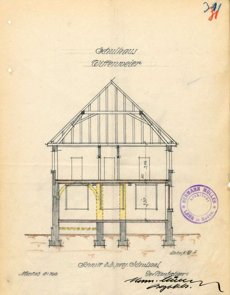 Schulhaus in Wittenweier, Bild 1