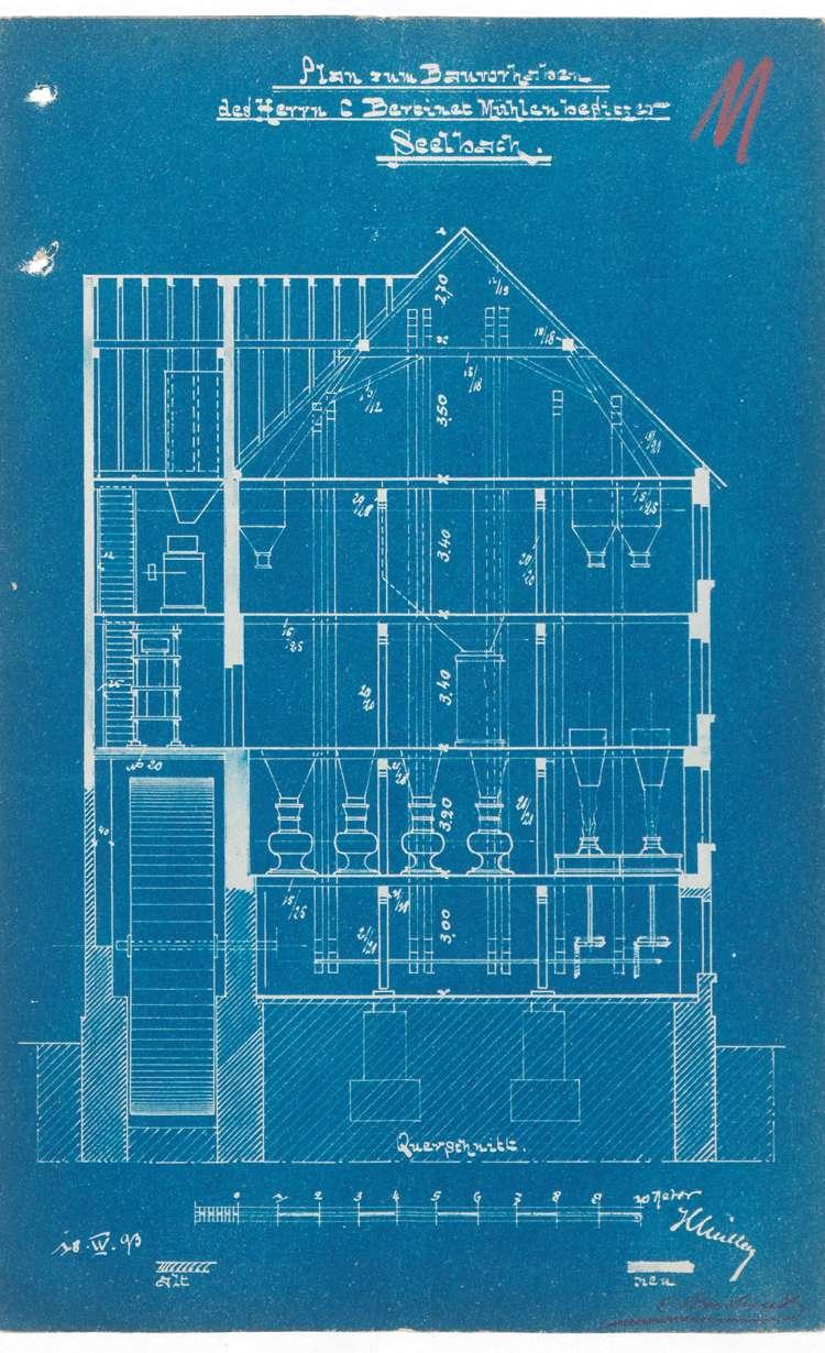 Errichtung eines Elektrizitätswerks in Seelbach durch den Ingenieur Konrad Goldmann von Hannover-Waldhausen sowie Genehmigung zur Errichtung dazu notwendiger technischer Anlagen (u.a. Dampfkessel), Bild 3