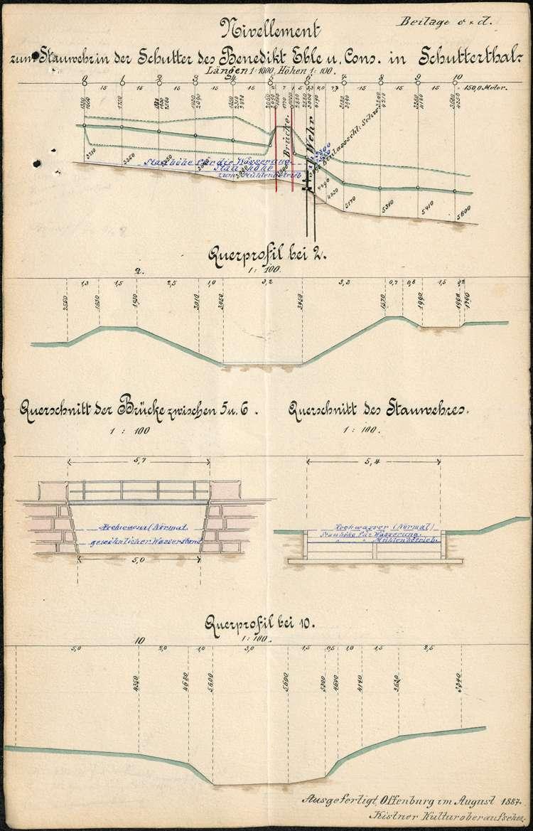 Neuerstellung des Stauwehrs des Müllers Benedikt Eble (dann J. Singler) auf Gemarkung Schuttertal, Bild 3