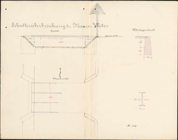Errichtung verschiedener Privatbrücken über die Schutter auf Gemarkung Schuttertal, Bild 1