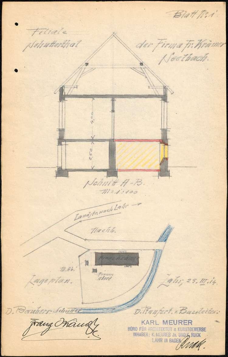 Errichtung, Betrieb und Erweiterung der Zigarrenfabrik des Franz Krämer in Schuttertal, Bild 1