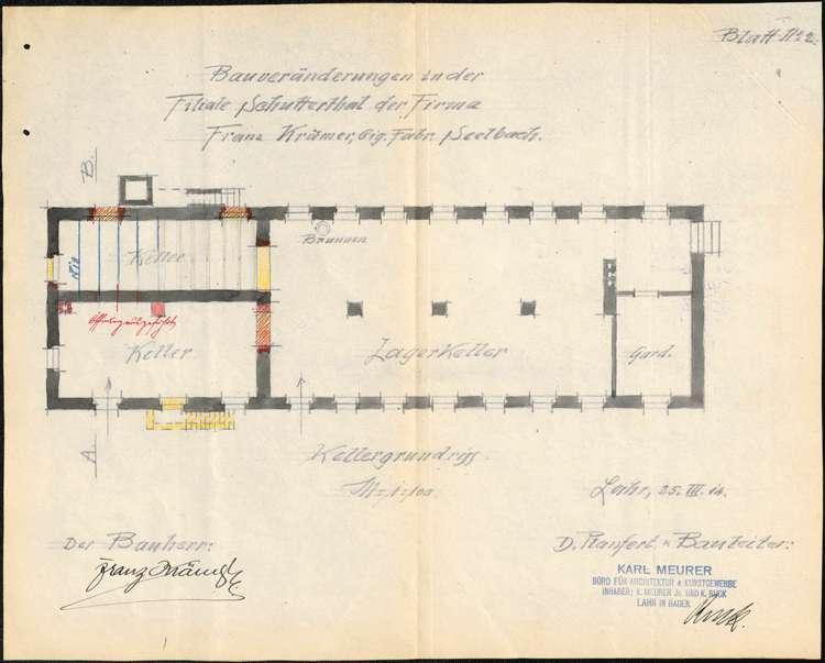 Errichtung, Betrieb und Erweiterung der Zigarrenfabrik des Franz Krämer in Schuttertal, Bild 2