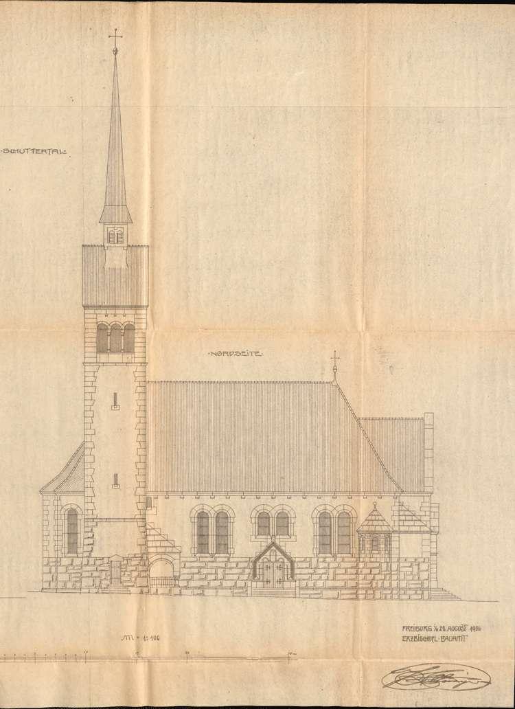 Neubau der Pfarrkirche in Schuttertal und deren bauiche Unterhaltung, Bild 3