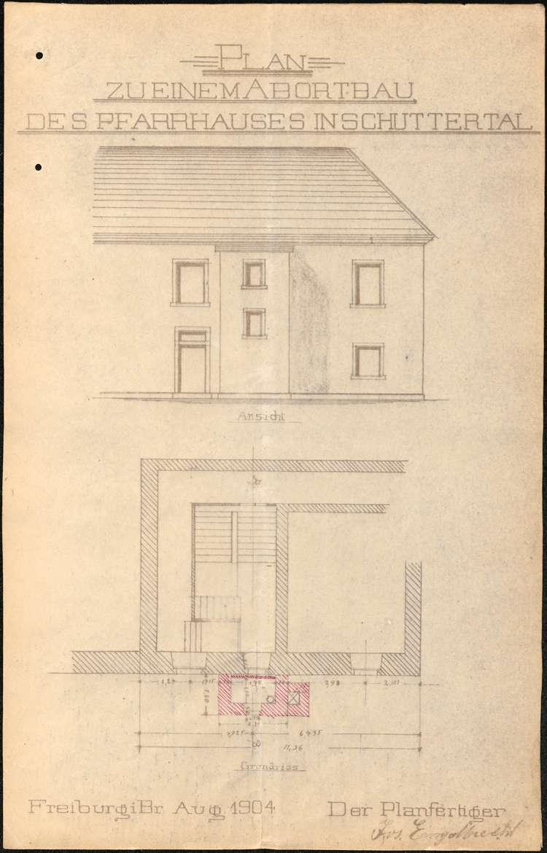 Bauliche Unterhaltung des Pfarrhauses zu Schuttertal, Bild 2