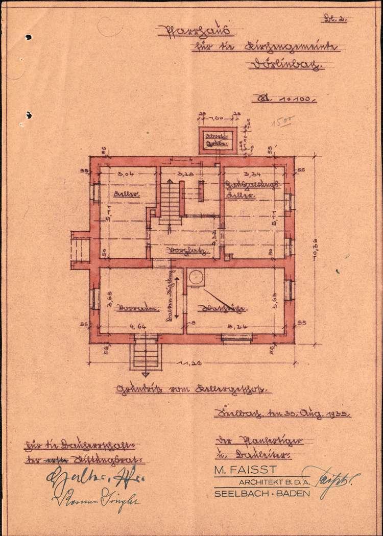 Gesuch der katholischen Kirchengemeinde in Dörlinbach um Genehmigung zum Neubau eines Pfarrhauses, Bild 2