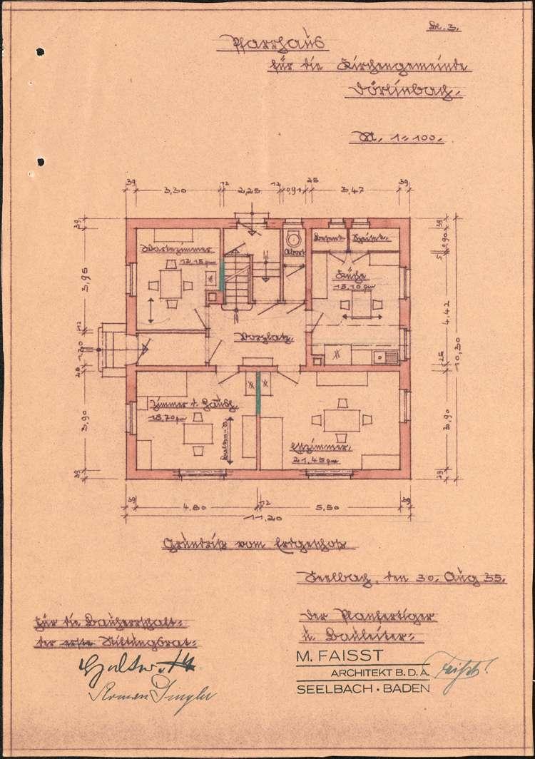 Gesuch der katholischen Kirchengemeinde in Dörlinbach um Genehmigung zum Neubau eines Pfarrhauses, Bild 3