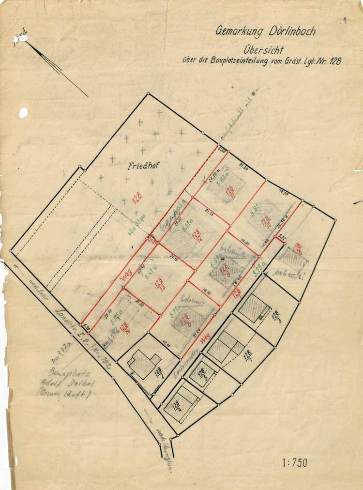 Erweiterung und Vollzug des Ortsbauplans der Gemeinde Dörlinbach, Bild 2
