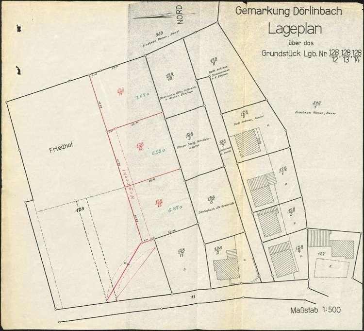 Erweiterung und Vollzug des Ortsbauplans der Gemeinde Dörlinbach, Bild 3