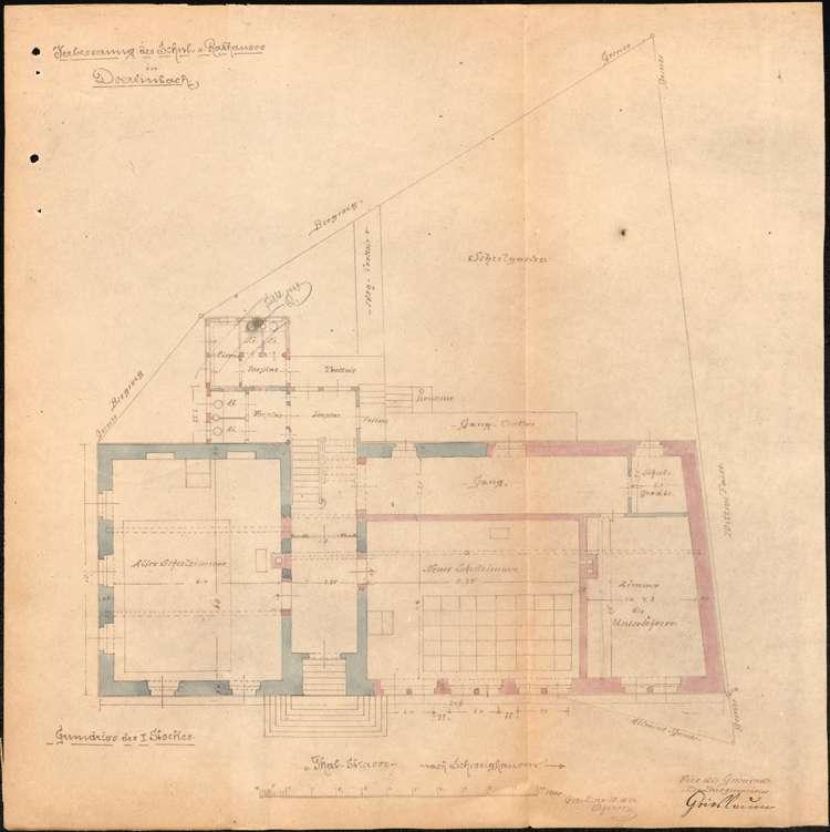 Neubau eines Schulhauses in der Gemeinde Dörlinbach, Bewilligung von Staatsbeihilfen hierzu sowie Erweiterung des Schulhauses, Bild 3