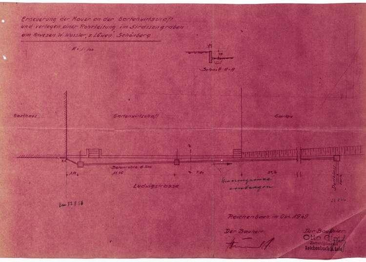Verlegung einer Rohrleitung beim Anwesen des W. Wussler in Schönberg, Bild 2