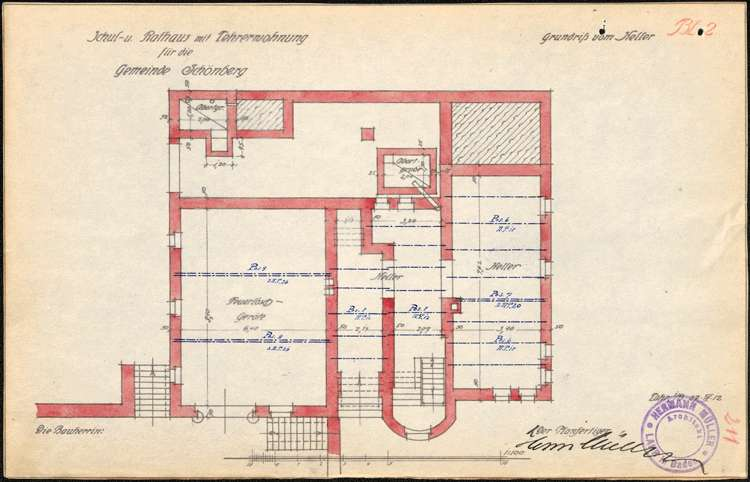 Auflösung des Schulverbandes Prinzbach-Schönberg und Neubau eines Schul- und Rathauses in Schönberg, Bild 2