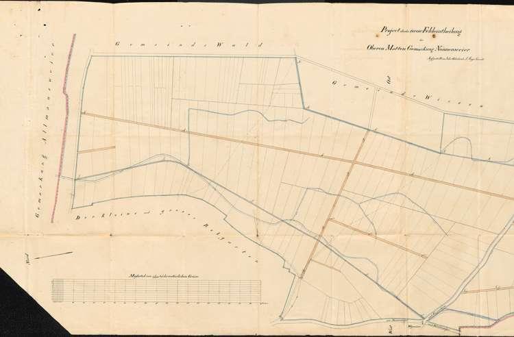 Anlegung von Feldwegen und Umlegung von Grundstücken im Gewann Obere Matten auf Gemarkung Nonnenweier, Bild 1