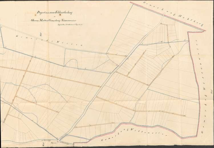 Anlegung von Feldwegen und Umlegung von Grundstücken im Gewann Obere Matten auf Gemarkung Nonnenweier, Bild 2