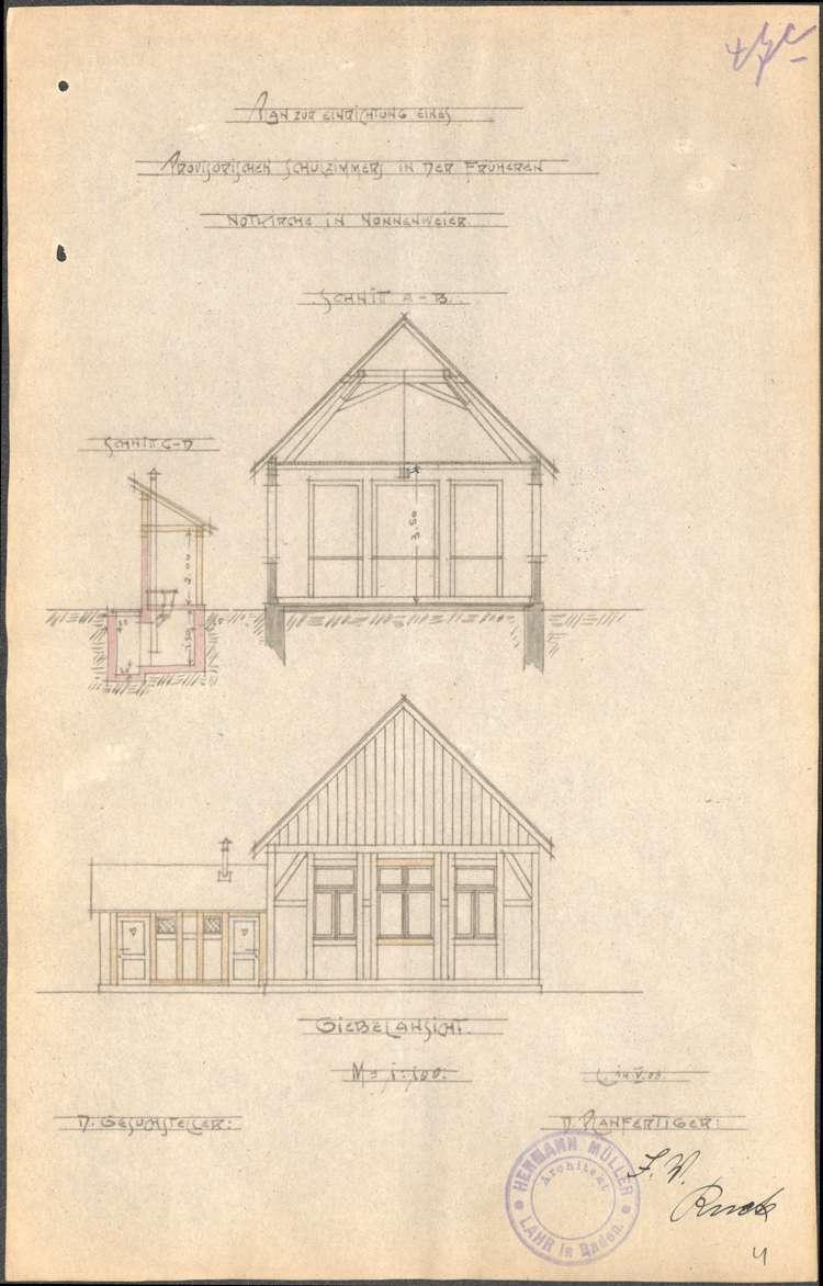 Instandhaltung der Schulhäuser in Nonnenweier sowie Neubau eines Schulhauses, Bild 3