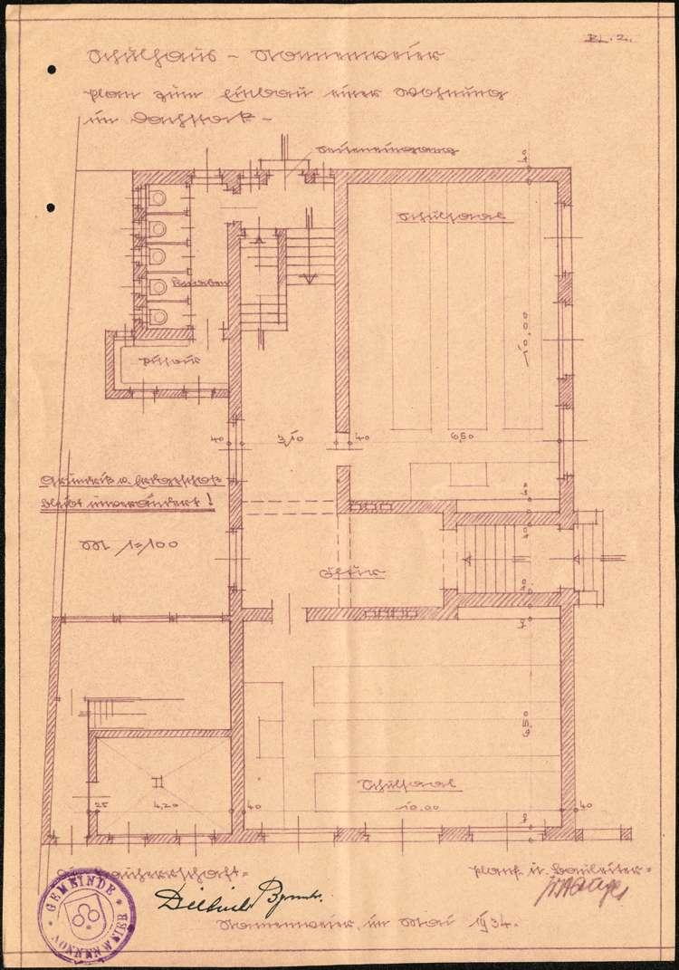 Instandhaltung der Lehrerwohnung in Nonnenweier sowie Einbau einer Lehrerwohnung in den Dachstock des Schulhauses, Bild 2
