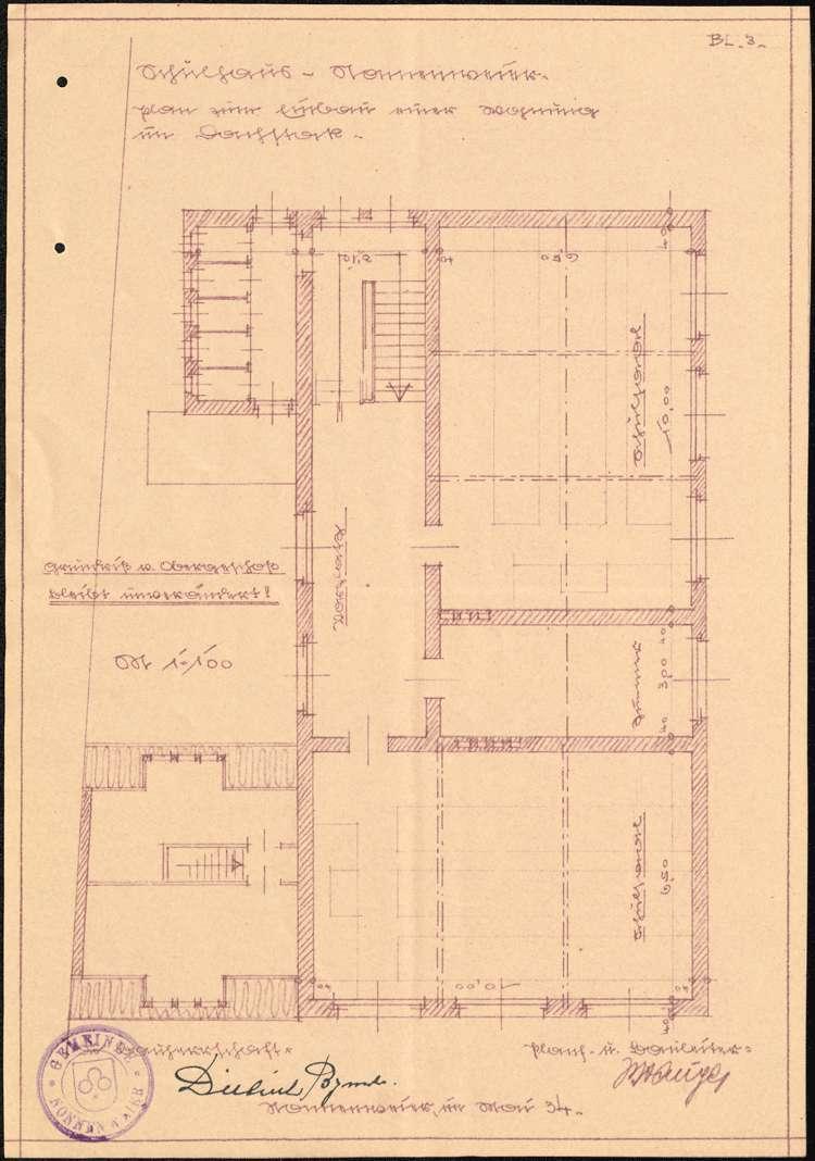 Instandhaltung der Lehrerwohnung in Nonnenweier sowie Einbau einer Lehrerwohnung in den Dachstock des Schulhauses, Bild 3