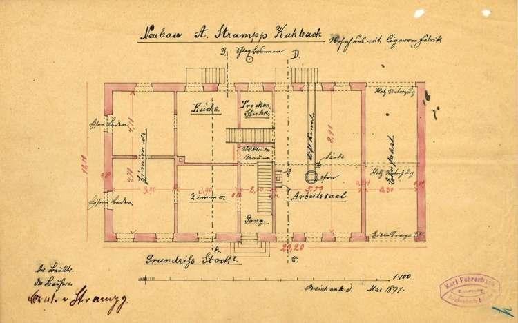 Errichtung einer Zigarrenfabrik in Kuhbach durch Anton Strampp von dort, Bild 3