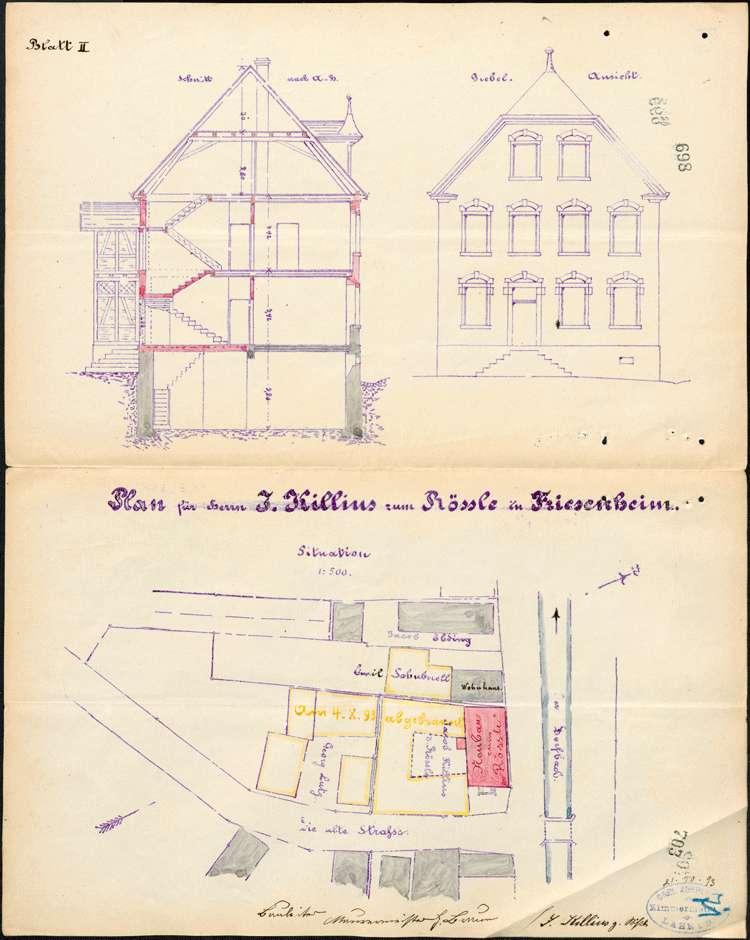 Konzessionierung und Betrieb der Gastwirtschaft Zum Rössle in Friesenheim, Bild 2