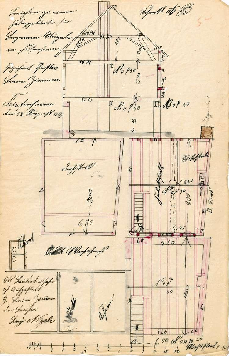 Errichtung und Betrieb der Zigarrenfabrik des Benjamin Nägele in Friesenheim, Bild 2