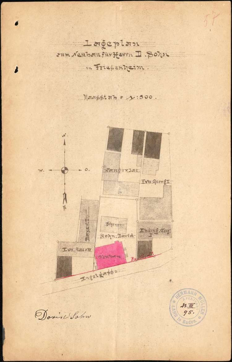 Errichtung und Betrieb der Zigarrenfabrik des David Sohn in Friesenheim, Bild 1