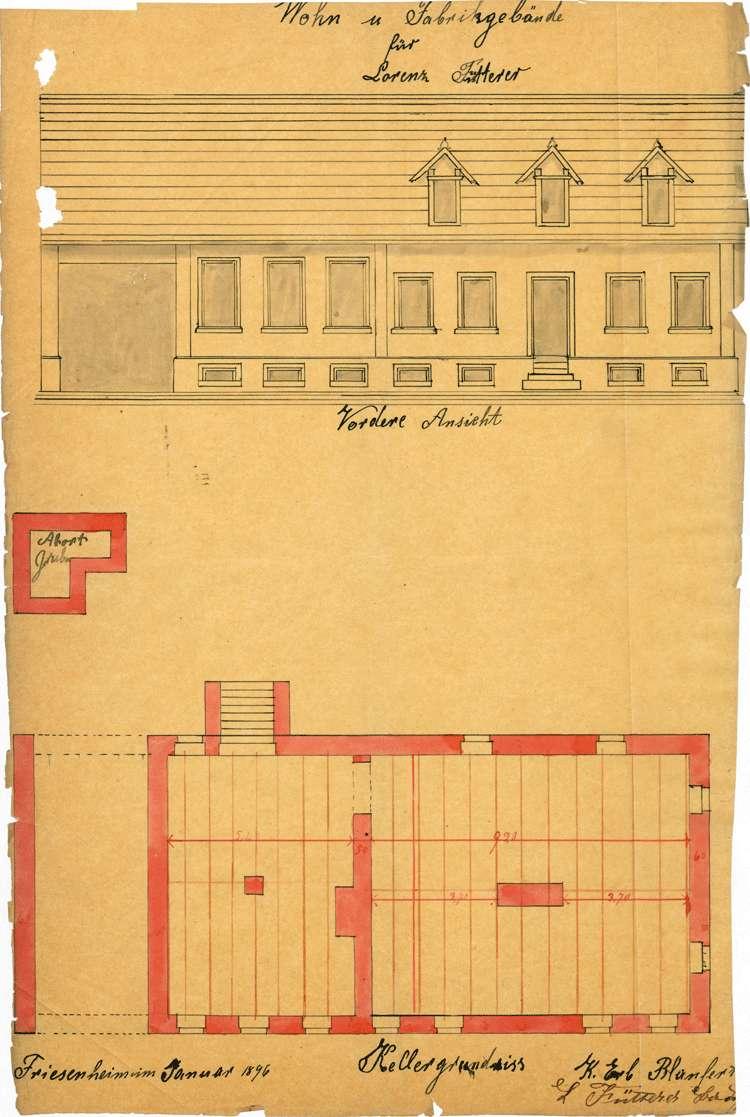 Errichtung und Betrieb der Zigarrenfabrik des Lorenz Fütterer in Friesenheim, Bild 2