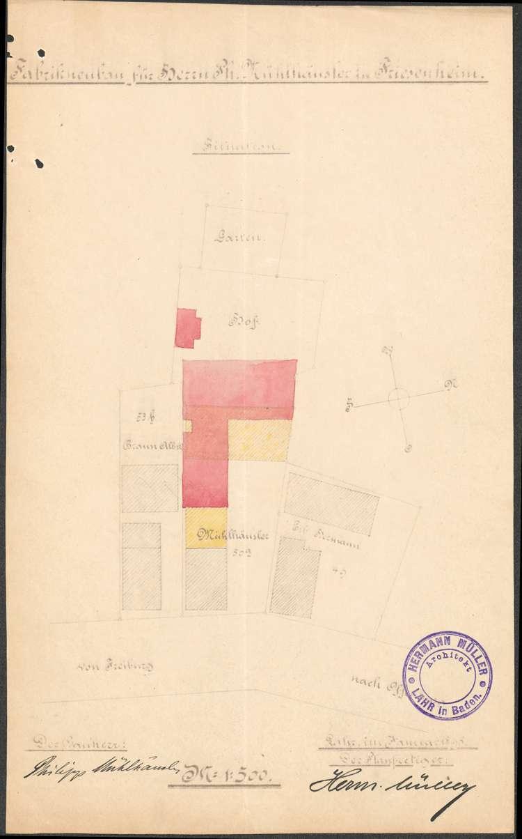 Errichtung und Betrieb der Zigarrenfabrik des Philipp Mühlhäusler in Friesenheim, Bild 1