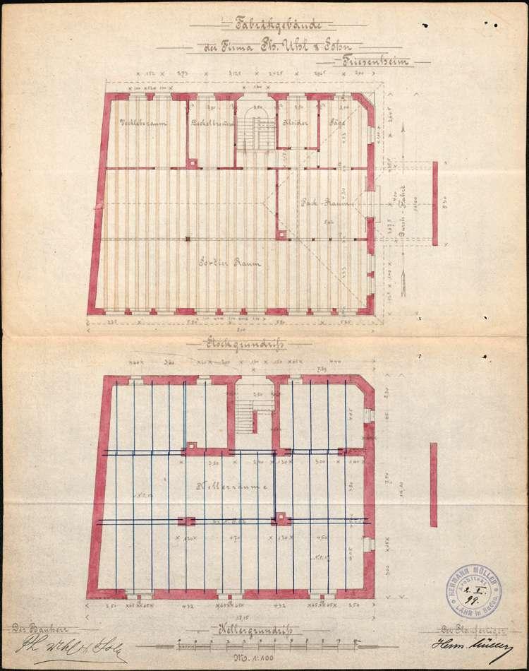Errichtung und Betrieb der Zigarrenfabrik der Firma Uhl & Sohn in Friesenheim, Bild 2