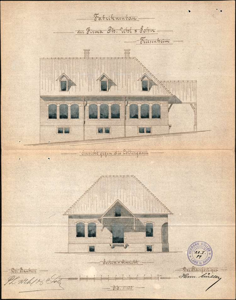 Errichtung und Betrieb der Zigarrenfabrik der Firma Uhl & Sohn in Friesenheim, Bild 3