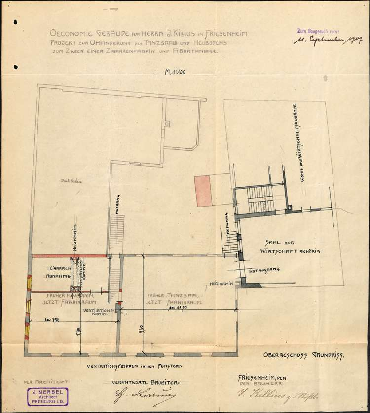 Errichtung und Betrieb der Zigarrenfabrik im ehemaligen Gasthaus Zum Rössle in Friesenheim, Bild 3