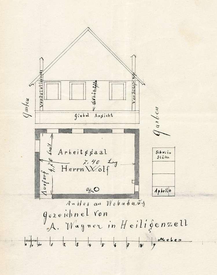 Errichtung einer Zigarrenfabrik durch Johann Wolf in Heiligenzell, Bild 1