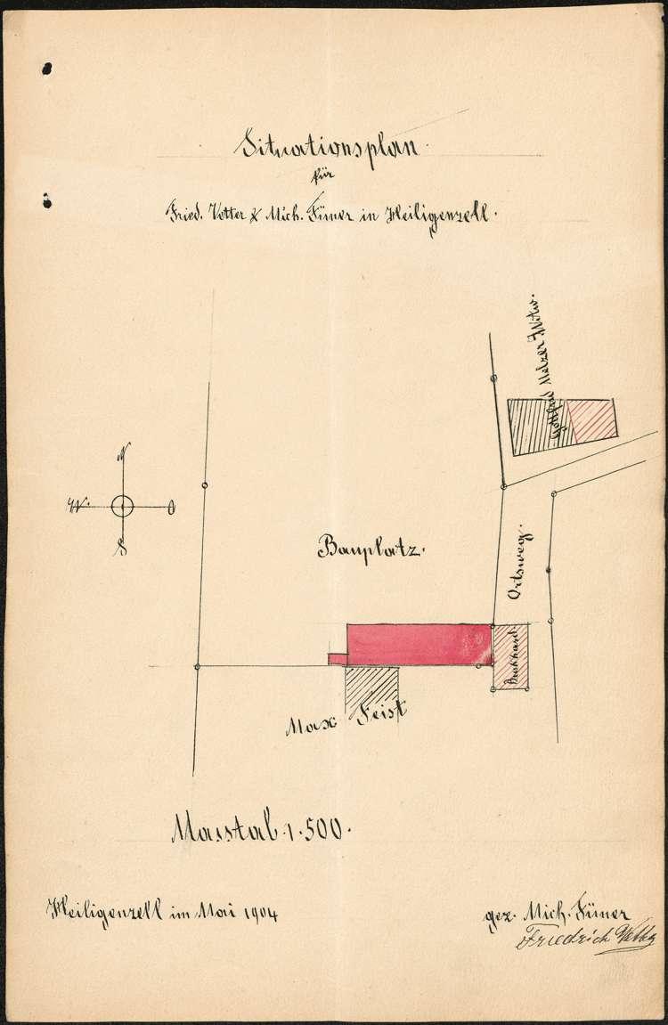 Errichtung und Betrieb der Zigarrenfabrik des Friedrich Vetter und des Michael Füner in Heiligenzell, Bild 1