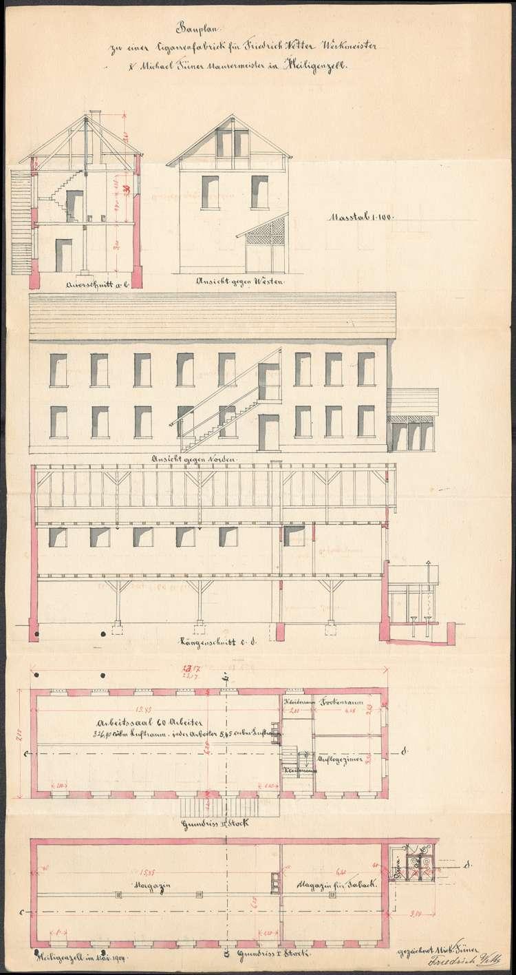 Errichtung und Betrieb der Zigarrenfabrik des Friedrich Vetter und des Michael Füner in Heiligenzell, Bild 2