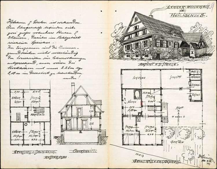 Bau eines neuen Lehrerwohnhauses in Heiligenzell, Bild 1