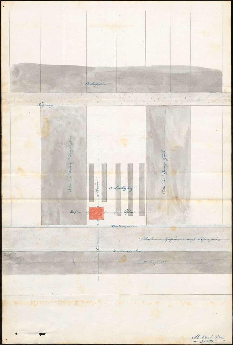 Gesuch des Michael Ruder in Hugsweier um Genehmigung zur Errichtung einer Feldbacksteinbrennerei auf dortiger Gemarkung, Bild 1