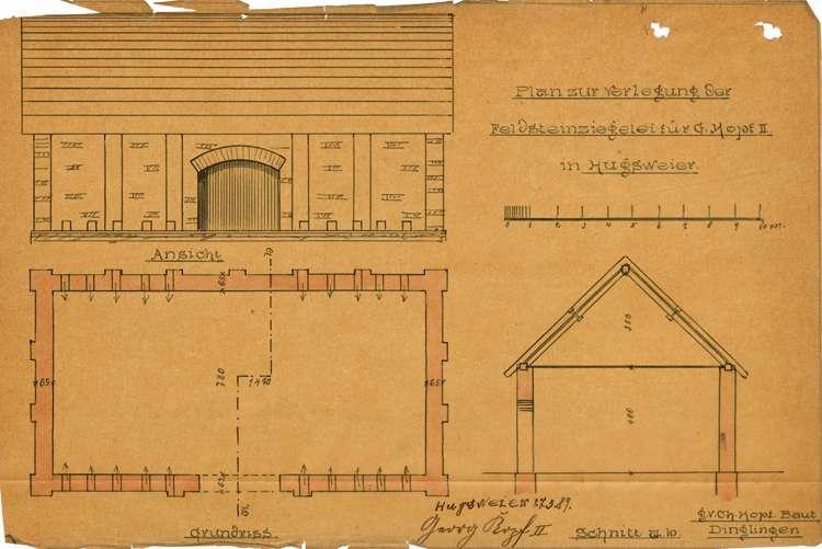 Errichtung einer Feldbacksteinbrennerei durch Georg Kopf in Hugsweier, Bild 2